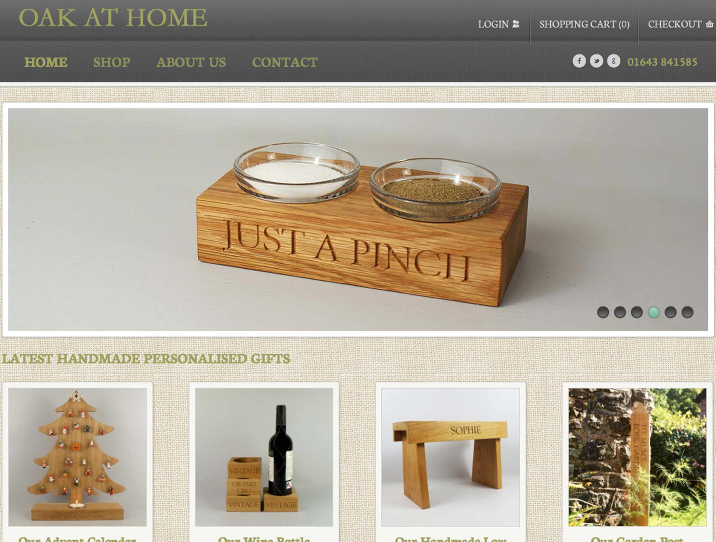 Built WordPress eCommerce website for Oak At Home