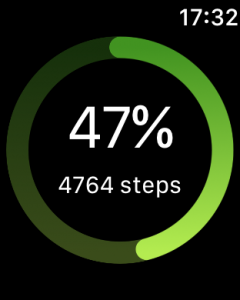 Step Tracker Apple Watch Target Screen